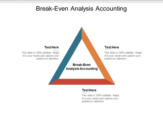 Break Even Analysis Accounting Ppt PowerPoint Presentation Gallery Example Introduction Cpb Pdf