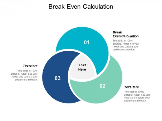 Break Even Calculation Ppt Powerpoint Presentation Styles Example Cpb