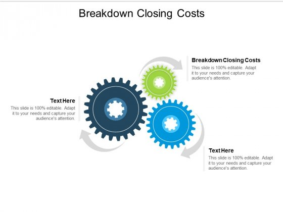 Breakdown Closing Costs Ppt PowerPoint Presentation Infographics Portrait Cpb