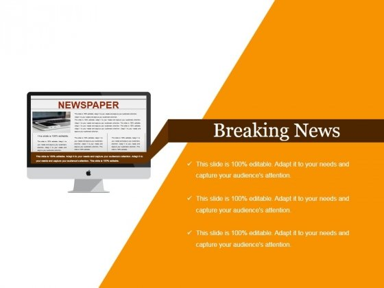 Breaking News Ppt PowerPoint Presentation Slides Ideas