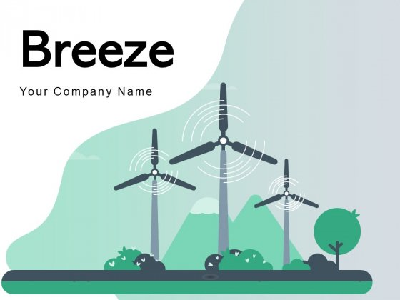 Breeze Wind Energy Icon Presenting Green Energy Ppt PowerPoint Presentation Complete Deck