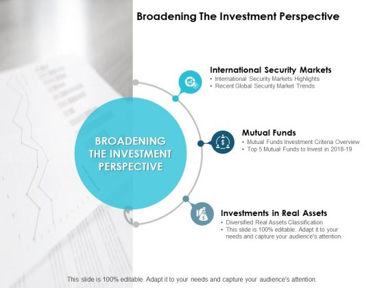 Broadening The Investment Perspective Ppt PowerPoint Presentation Icon Layouts