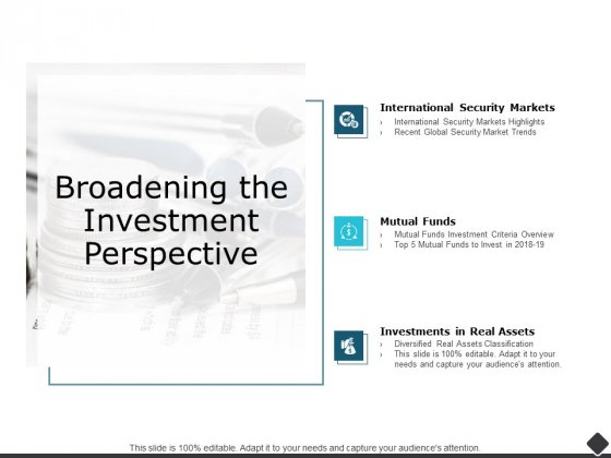 Broadening The Investment Perspective Ppt PowerPoint Presentation Pictures Rules