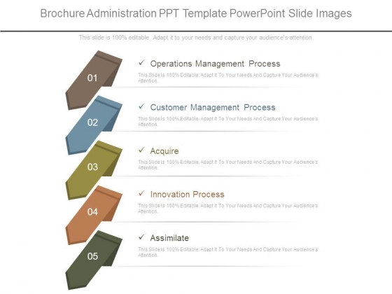 Brochure Administration Ppt Template Powerpoint Slide Images