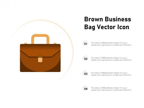 Brown Business Bag Vector Icon Ppt PowerPoint Presentation Professional Rules