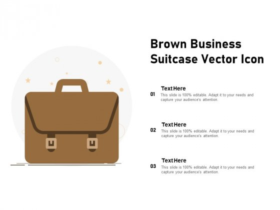Brown Business Suitcase Vector Icon Ppt PowerPoint Presentation File Design Ideas