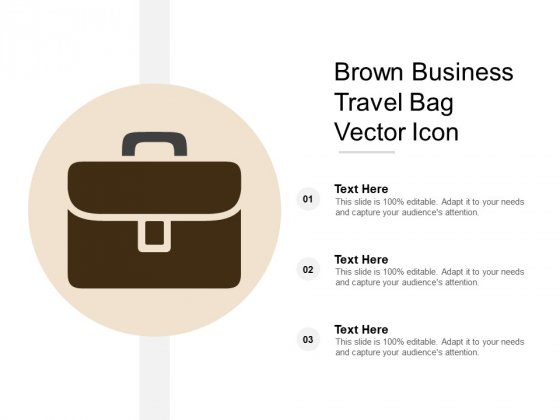 Brown Business Travel Bag Vector Icon Ppt Powerpoint Presentation Styles Visual Aids