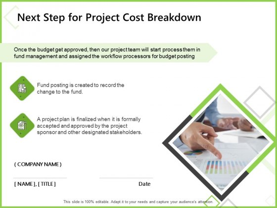 Budget Cost Project Plan Next Step For Project Cost Breakdown Ppt Gallery Graphics Download PDF