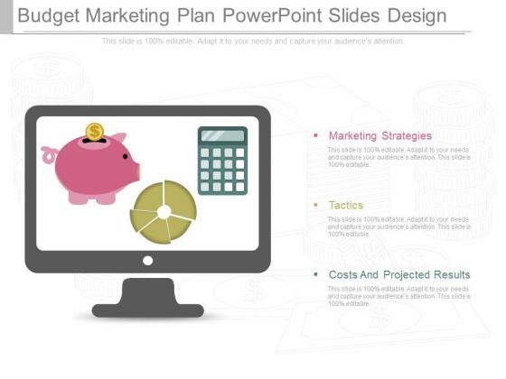 Budget Marketing Plan Powerpoint Slides Design