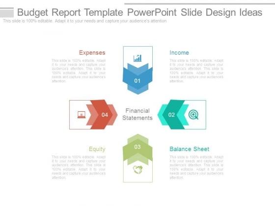 budget report template powerpoint slide design ideas - powerpoint, Modern powerpoint