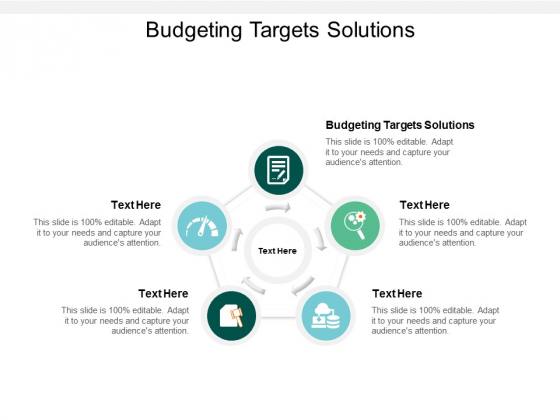 Budgeting Targets Solutions Ppt PowerPoint Presentation Outline Design Ideas Cpb