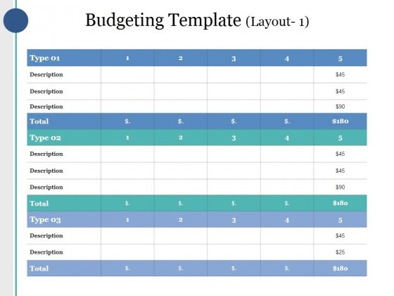 Budgeting Template 1 Ppt PowerPoint Presentation Deck