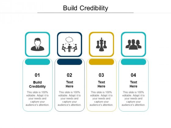Build Credibility Ppt PowerPoint Presentation Outline Background Designs Cpb Pdf