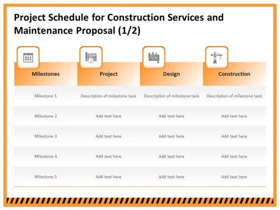 Building Assembly Conservation Solutions Project Schedule For Construction Services And Maintenance Proposal Demonstration PDF