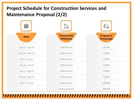 Building Assembly Conservation Solutions Project Schedule For Construction Services And Maintenance Template PDF
