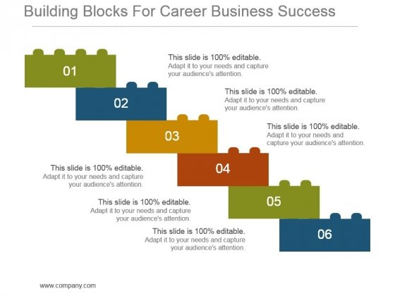 Building Blocks For Career Business Success Powerpoint Slide Download