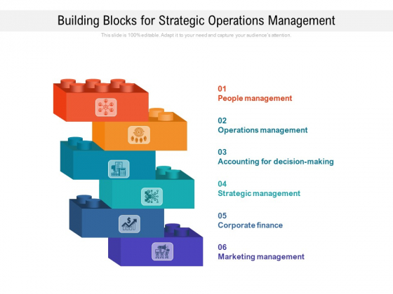 Building Blocks For Strategic Operations Management Ppt PowerPoint Presentation Gallery Slide Download PDF