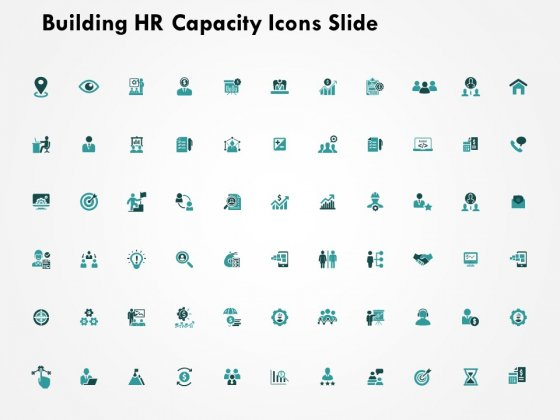 Building HR Capacity Icons Slide Ppt PowerPoint Presentation Layouts Format Ideas