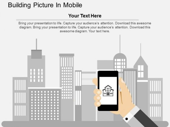 Building Picture In Mobile Powerpoint Templates