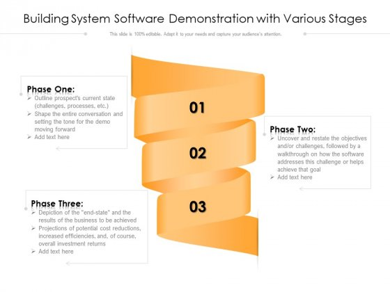 Building System Software Demonstration With Various Stages Ppt Model Vector PDF