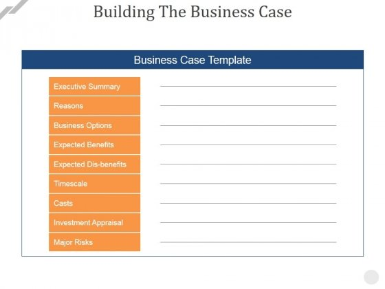 Building the business case ppt powerpoint presentation infographic building the business case ppt powerpoint presentation infographic template designs download powerpoint templates fbccfo Gallery