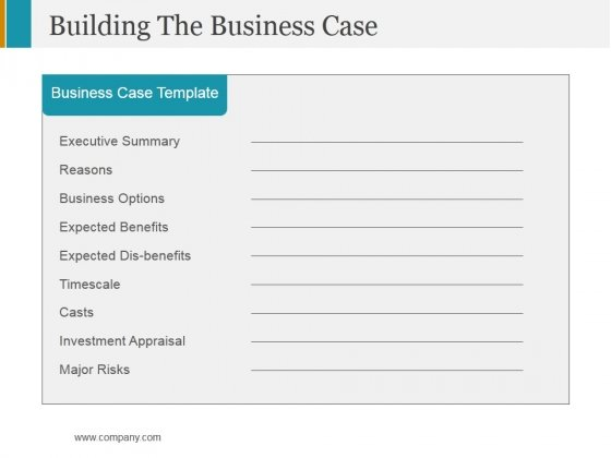 Building the business case ppt powerpoint presentation portfolio building the business case ppt powerpoint presentation portfolio ideas powerpoint templates wajeb Images