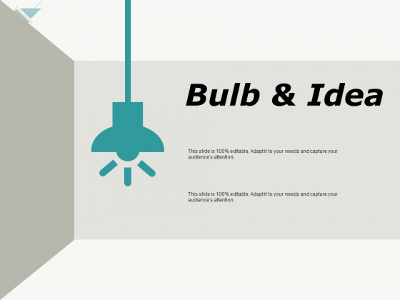 Bulb And Idea Innovation Ppt PowerPoint Presentation Slides Display