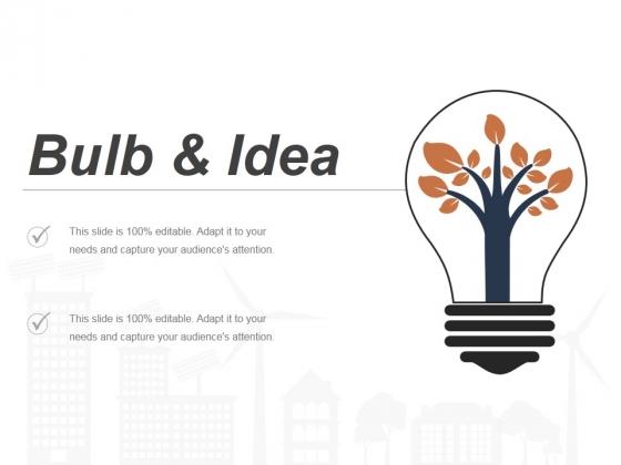 Bulb And Idea Ppt PowerPoint Presentation Gallery Vector