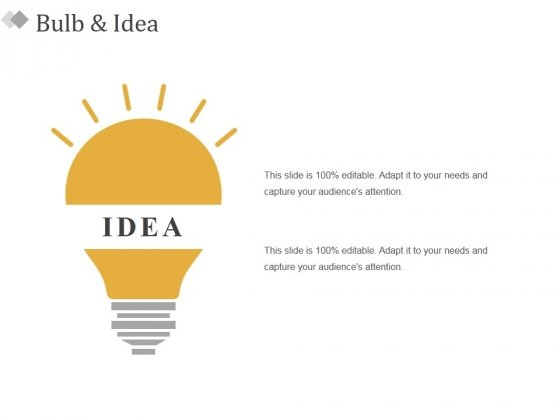 Bulb And Idea Ppt PowerPoint Presentation Inspiration Graphics Download