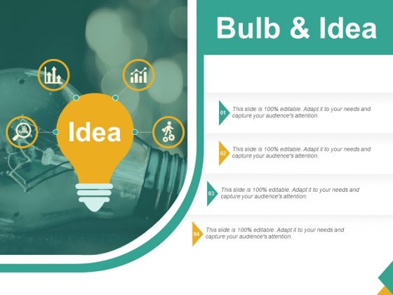 Bulb And Idea Ppt PowerPoint Presentation Inspiration Ideas