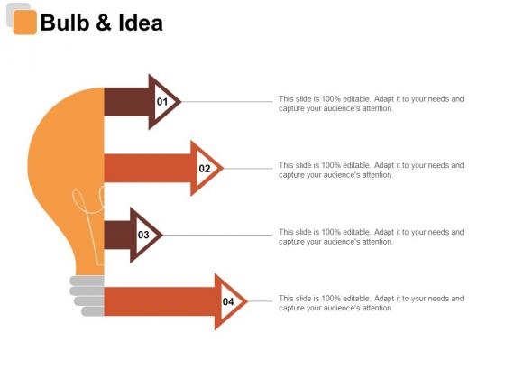 Bulb And Idea Risk Estimator Ppt PowerPoint Presentation Show Slides
