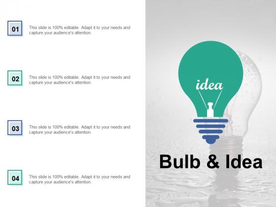 Bulb And Idea Technology Ppt PowerPoint Presentation Portfolio Clipart