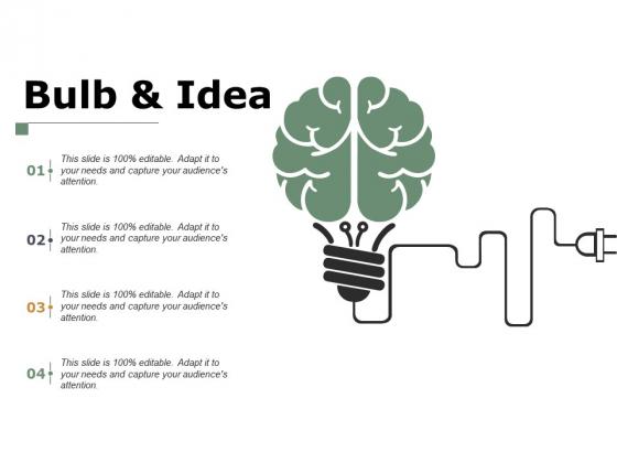 Bulb And Idea Technology Ppt PowerPoint Presentation Show