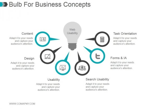 Bulb For Business Concepts Ppt PowerPoint Presentation Summary
