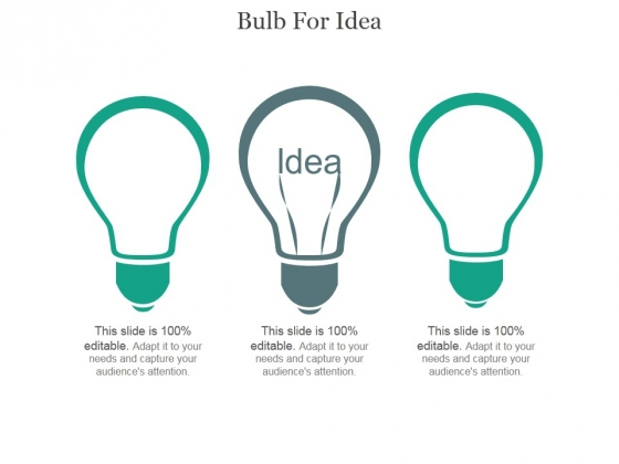 Bulb For Idea Ppt PowerPoint Presentation Example 2015