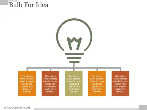 Bulb For Idea Ppt PowerPoint Presentation Examples