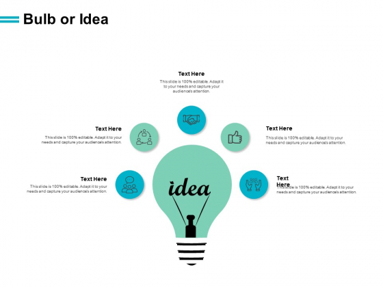 Bulb Or Idea Innovation Ppt PowerPoint Presentation Pictures Example Topics