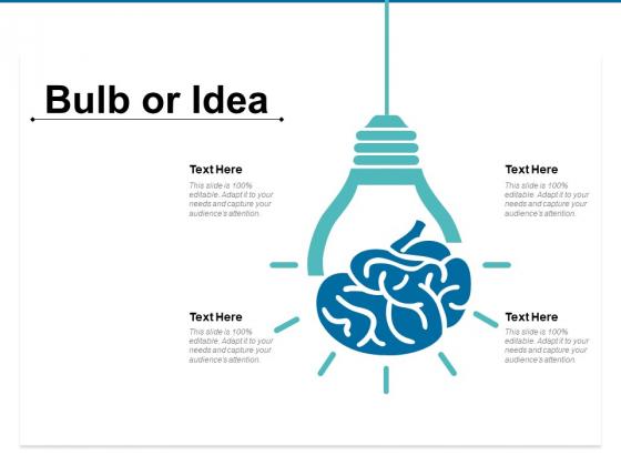 Bulb Or Idea Marketing Ppt PowerPoint Presentation Model Elements