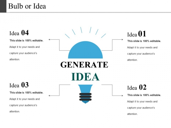Bulb Or Idea Ppt PowerPoint Presentation File Smartart
