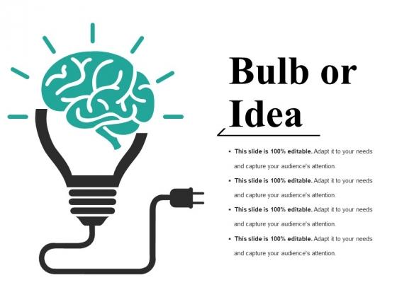 Bulb Or Idea Ppt PowerPoint Presentation Gallery Design Ideas