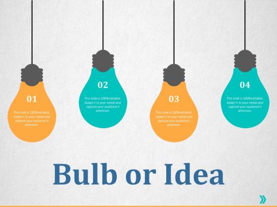 Bulb Or Idea Ppt PowerPoint Presentation Gallery Design Templates
