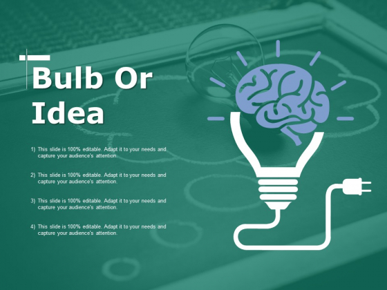 Bulb Or Idea Ppt PowerPoint Presentation Gallery Example