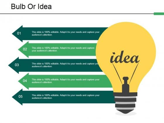 Bulb Or Idea Ppt PowerPoint Presentation Icon Example Introduction