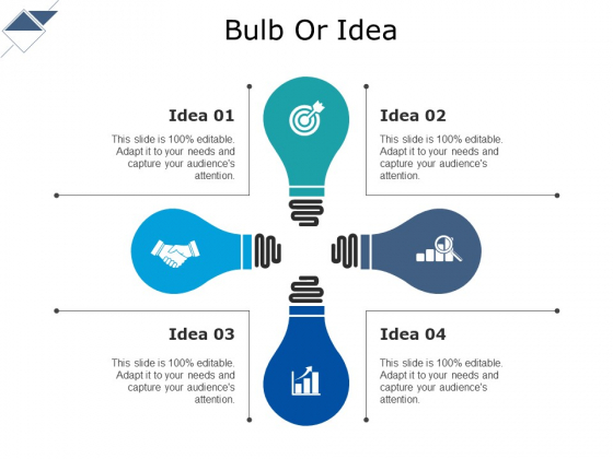 Bulb Or Idea Ppt PowerPoint Presentation Icon Slideshow