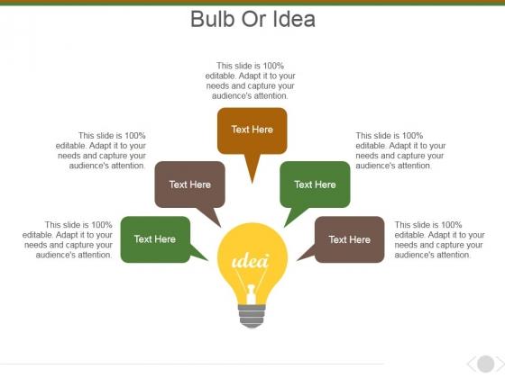 Bulb Or Idea Ppt PowerPoint Presentation Ideas Backgrounds