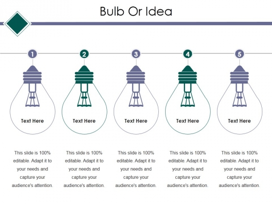 Bulb Or Idea Ppt PowerPoint Presentation Infographic Template Ideas