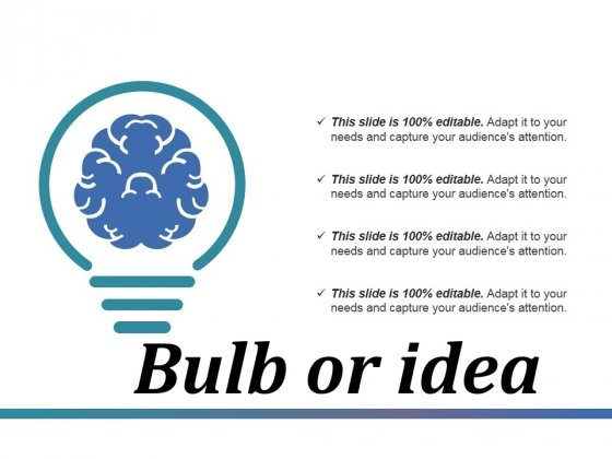 Bulb Or Idea Ppt PowerPoint Presentation Infographics Elements