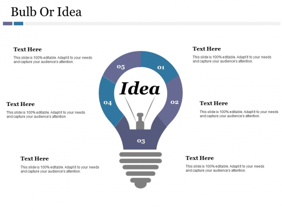 Bulb Or Idea Ppt PowerPoint Presentation Infographics