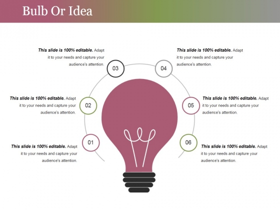 Bulb Or Idea Ppt PowerPoint Presentation Inspiration Graphic Tips