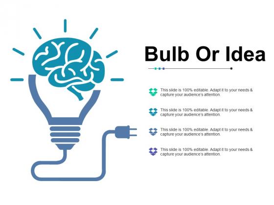 Bulb Or Idea Ppt Powerpoint Presentation Inspiration Mockup